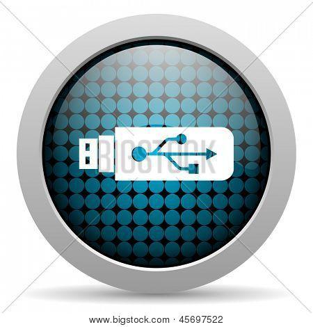 usb glossy icon