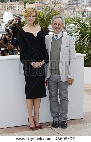 CANNES, FRANCE - MAY 15: Nicole Kidman, Steven Spielberg at the Jury photocall during the 66th Annual Cannes Film Festival at Palais des Festivals on May 15, 2013 in Cannes, France