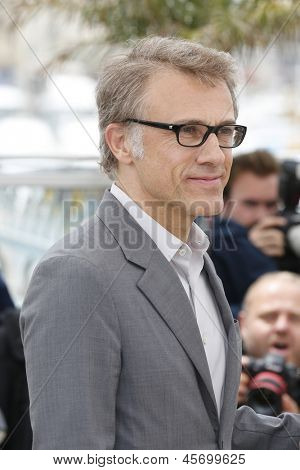 CANNES, FRANCE - MAY 15: Christoph Waltz at the Jury photocall during the 66th Annual Cannes Film Festival at Palais des Festivals on May 15, 2013 in Cannes, France