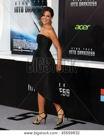 """LOS ANGELES - MAY 14:  Kate Beckinsale arrives at the """"Star Trek Into Darkness"""" Los Angeles Premiere at the Dolby Theater on May 14, 2013 in Los Angeles, CA"""