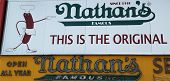 The Nathan's original restaurant sign