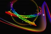 Colorful Abstract Glowing With Dark Background