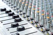 stock photo of track home  - Music control panel device for dj - JPG