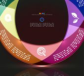 Modern minimal infographic circle design. Can be used as a background, web design, infographics, ban