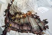 GDANSK, POLAND - MAY 6, 2013: Great organ of Oliwa Archcathedral on 6 May 2013. Great Oliwa organ co