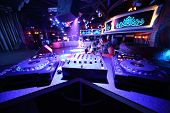 picture of disc jockey  - The empty space with equipment for DJ mixes music - JPG