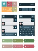 stock photo of accordion  - Flat user interface elements - JPG