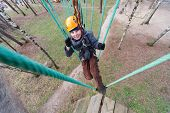 Little climber finished passage ropes course