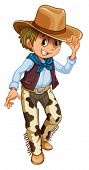pic of wrangler  - Illustration of a young cowboy on a white background - JPG