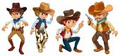 picture of ammo  - Illustration of the four cowboys on a white background - JPG
