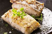 image of grouper  - grouper fillet fried with herbs - JPG