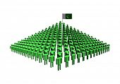 Pyramid of abstract people with Pakistan flag illustration