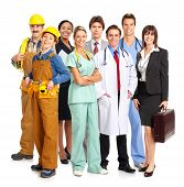 picture of people work  - Business people builders nurses doctors architect - JPG
