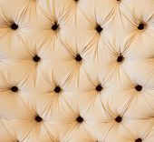 White Leather Upholstery Background