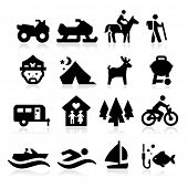 stock photo of recreational vehicles  - Recreation Icons - JPG