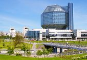 MINSK, BELARUS - MAY 30: A unique building of National Library of Belarus on May 30, 2010 in Minsk,