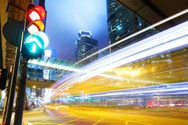 stock photo of traffic signal  - Traffic light in the city - JPG