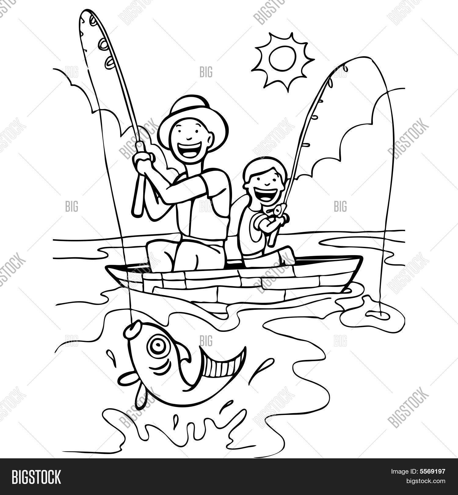 Fisherman Vector Photo