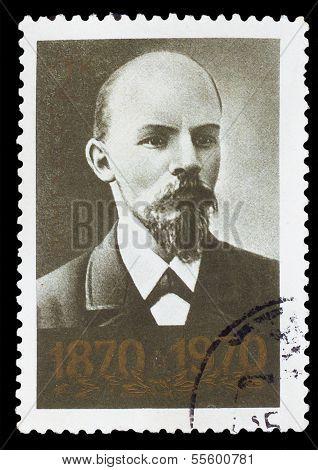 UdSSR 1970: eine Briefmarke gedruckt in der UdSSR, zeigt Portrait des le