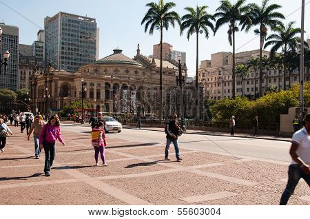 Municipal Theater of Sao Paulo, Brazil.