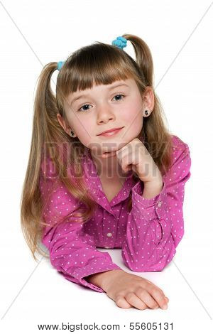 Thoughtful Small Girl