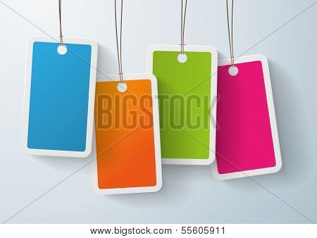 Four Colored Price Sticker