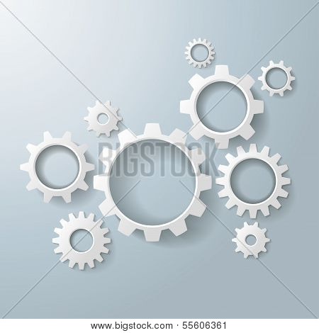 Several White Gears