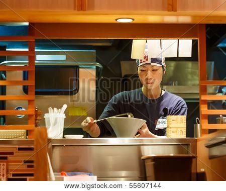Japanese Female Ramen Chef