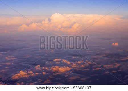 clouds - view from plane