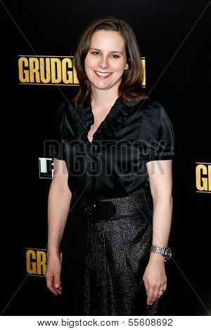 "NEW YORK-DEC 16: TriBeCa Film Institute executive director Beth Janson attends the premiere of ""Grudge Match"" at the Ziegfeld Theatre on December 16, 2013 in New York City."