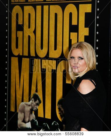 """NEW YORK-DEC 16: TV personality Carrie Keagan attends the world premiere of """"Grudge Match"""" at the Ziegfeld Theatre on December 16, 2013 in New York City."""