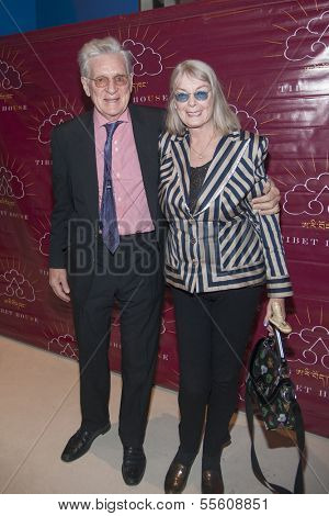 NEW YORK-DEC 16: Robert Thurman and Nena Thurman attend the 11th annual Tibet House US Benefit Auction at Christie's Auction House on December 16, 2013 in New York City.