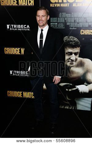 "NEW YORK-DEC 16: Actor Josh Cowdery attends the world premiere of ""Grudge Match"" at the Ziegfeld Theatre on December 16, 2013 in New York City."