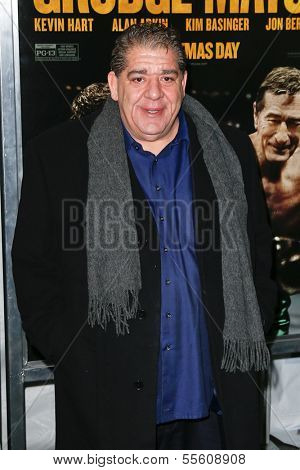 "NEW YORK-DEC 16: Actor Joey Diaz attends the premiere of ""Grudge Match"" at the Ziegfeld Theatre on December 16, 2013 in New York City."