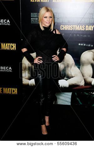 "NEW YORK-DEC 16: TV personality Carrie Keagan attends the world premiere of ""Grudge Match"" at the Ziegfeld Theatre on December 16, 2013 in New York City."