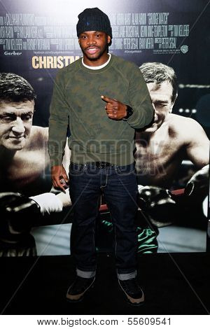 "NEW YORK-DEC 16: Boxer Eddie Gomez attends the world  premiere of ""Grudge Match"" at the Ziegfeld Theatre on December 16, 2013 in New York City."