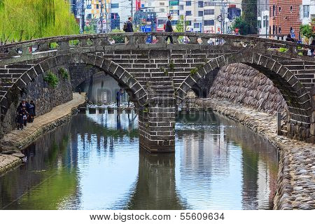 Meganebashi Bridge in Nagasaki