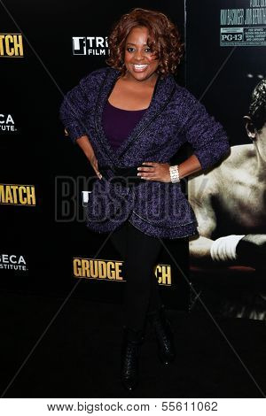 """NEW YORK-DEC 16: TV host Sheri Shepherd attends the world premiere of """"Grudge Match"""" at the Ziegfeld Theatre on December 16, 2013 in New York City."""