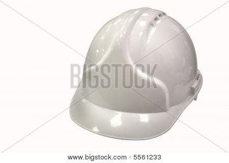 Capacete branco está isolado