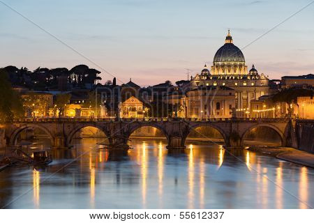 Vatican City during sunset, Rome