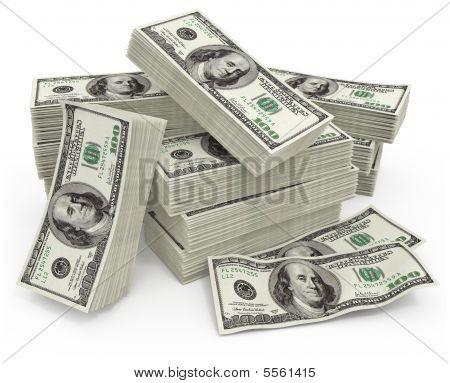 Grande soma de dinheiro dólares