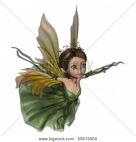 Flying Little Fairy Butterfly