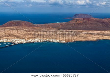 view to La Graciosa  - volcanic island, Canary