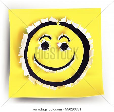paper collection Happy Smile face
