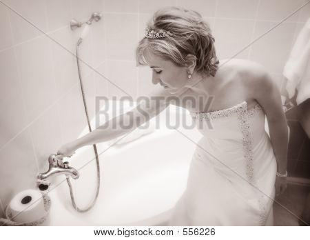 Bride Preparing A Bath