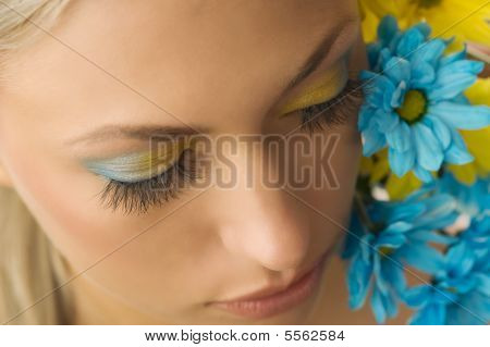 Yellow And Blue Flower