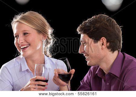 lustige Wein-Gespräch