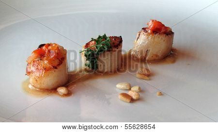 Trio of Scallops
