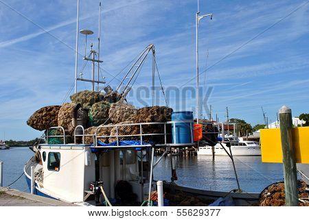 Sponge diving boat