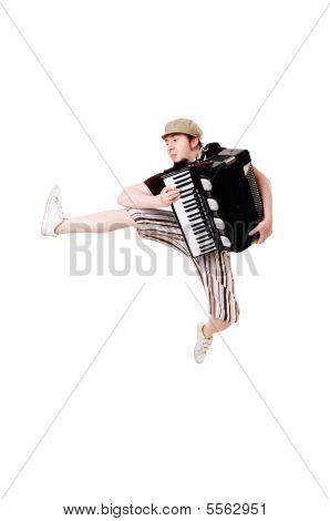 Cool Musician Jumping High